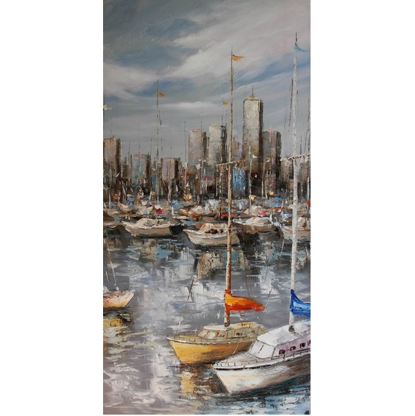 Canvas Painting 50x100 Harbour