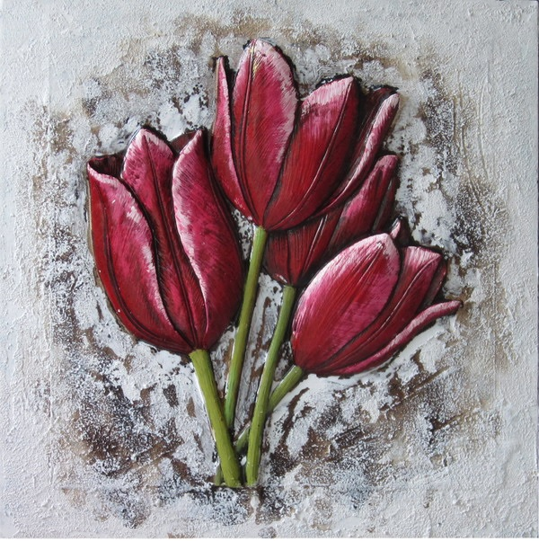 Canvas Painting 60x60 Tulips
