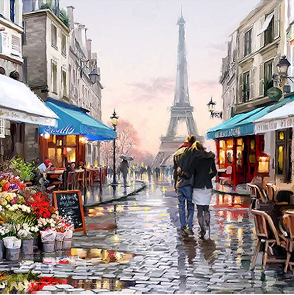 Canvas Painting 60x60 Eiffel Tower