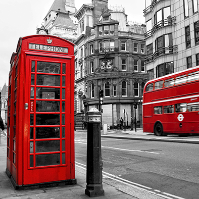 Canvas Painting Telephone Cabin London