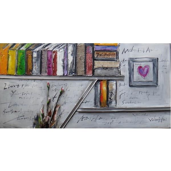 Canvas Painting 60x120 Bookshelf