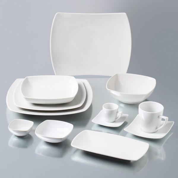 ... 220-02215-home-accessories-dining-porcelain-square-dinnerware- & Saturnia Linea Tokio Porcelain Square Side Plate 17cm \u2013 Studio House ...