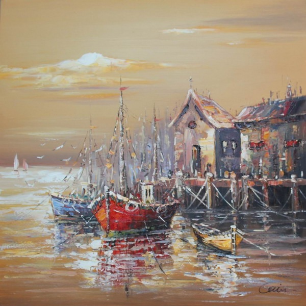 Canvas Painting 60x60 Harbour