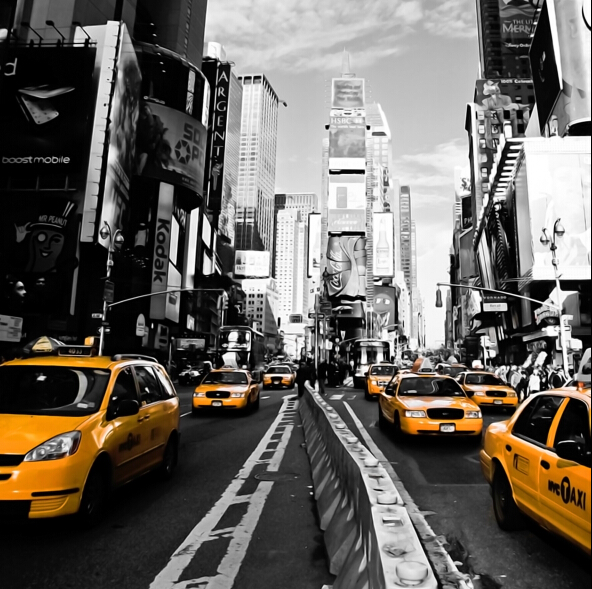 Canvas Painting 60x60 New York Taxis