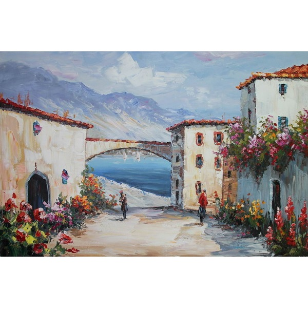 Canvas Painting 60x90 Village