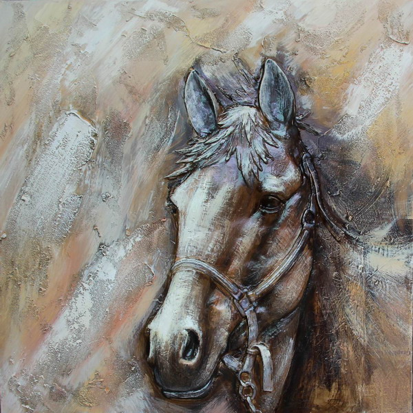 Canvas Painting 80x80 Horse