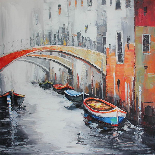 Canvas Painting 80x80 Venice