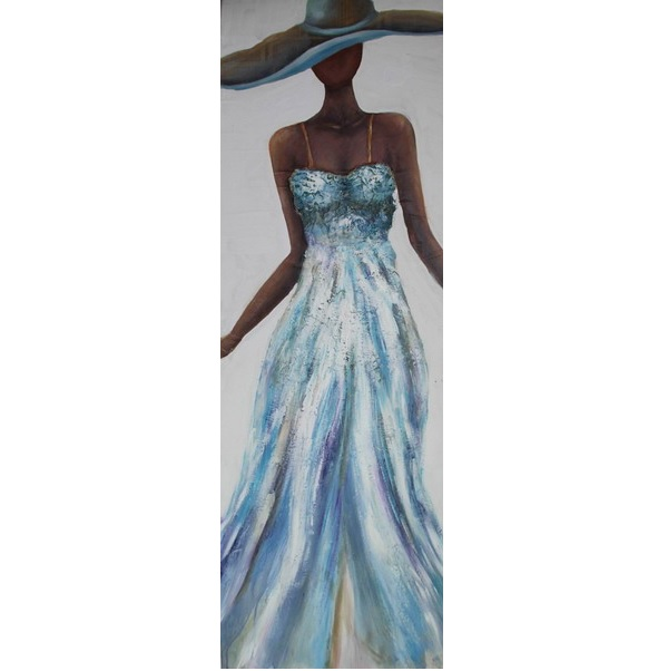 Canvas Painting 40x120 Lady