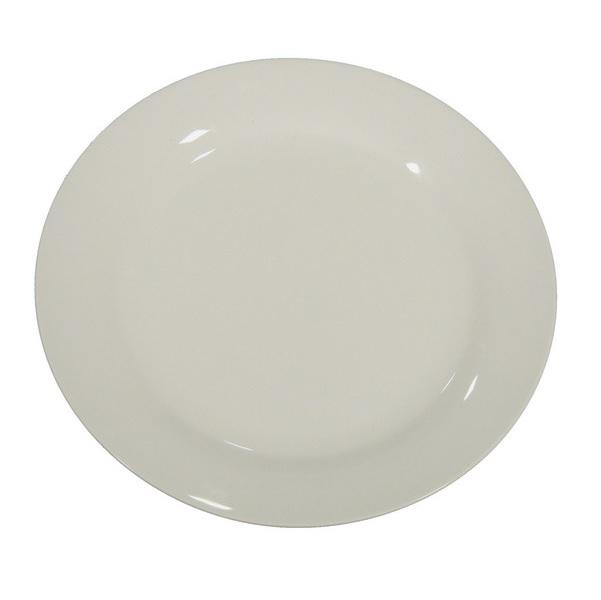 blank porcelain dinner plate